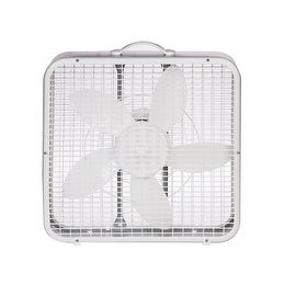 Lasko 3733 Compact Box Fan with Carrying Handle, 3-Speed