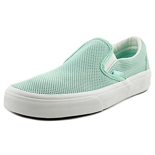 Vans Mens Classic Slip On Blue Light Blanc Braided suede