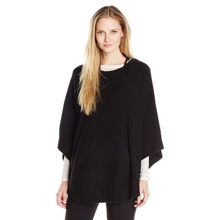 G.H. Bass Co. Hooded Sweater Poncho - M