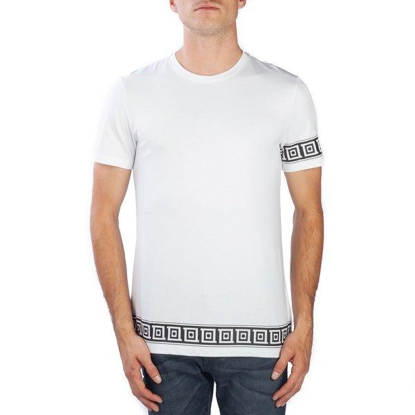750d54e9 Versace Collection Men's Cotton Logo Graphic Crewneck T-Shirt White