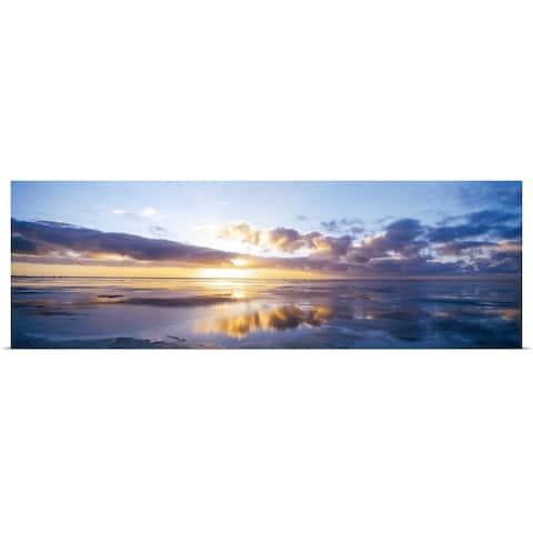 """Germany, North Sea, sunrise on beach"" Poster Print"