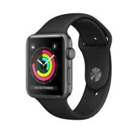 Apple Watch Series 3 (GPS), 38mm Space Gray Aluminum Case with Black Sport Band