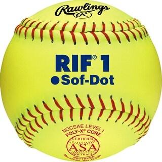 """Rawlings 11"""" ASA Pro Tac RIF 1 Fastpitch Softball (Dozen) MAROON 11"""