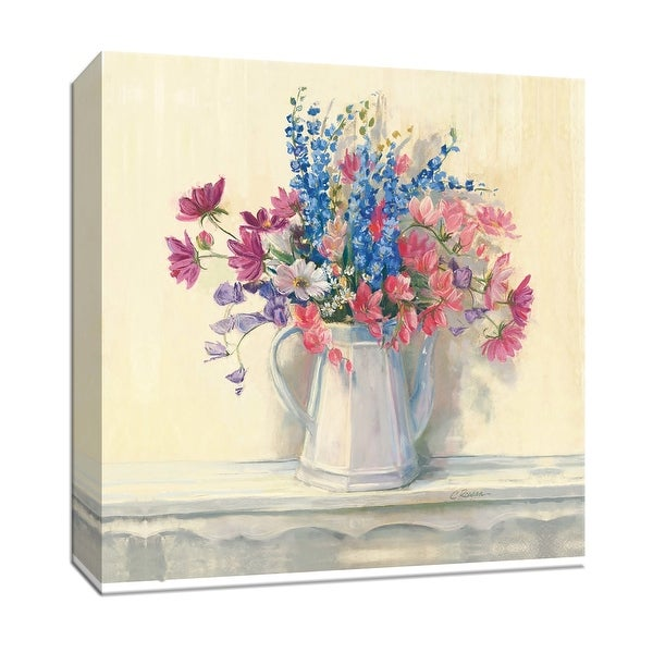 """PTM Images 9-153344 PTM Canvas Collection 12"""" x 12"""" - """"Ironstone Bouquet I"""" Giclee Flowers Art Print on Canvas"""