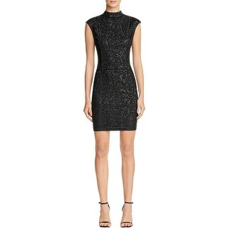 Guess Womens Becky Casual Dress Bodycon Mock Neck