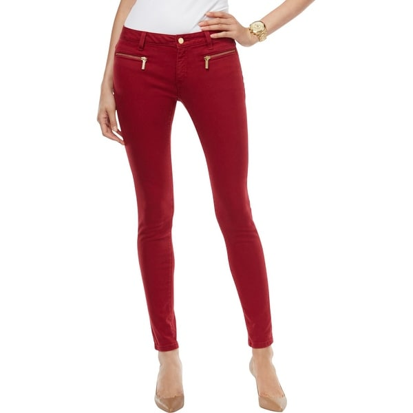Shop Michael Michael Kors Womens Izzy Colored Skinny Jeans