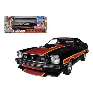 1978 Ford Mustang Cobra II Black Free Wheelin Movie 1/18 Diecast Car Model by Greenlight