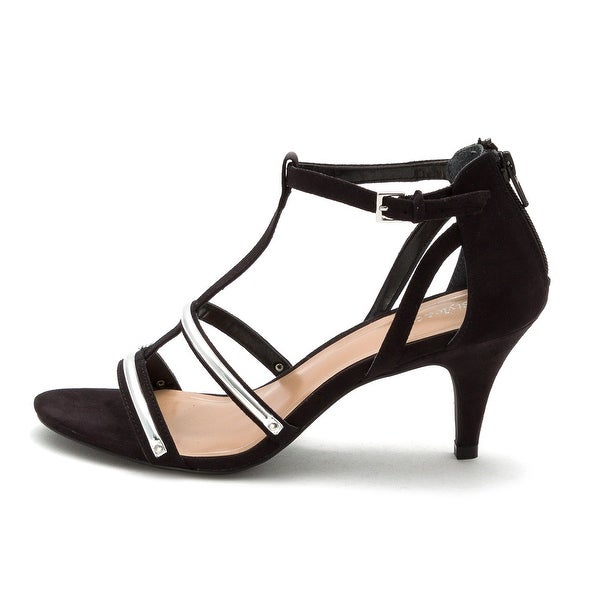 Style & Co. Womens Hughley Open Toe Casual T-Strap Sandals