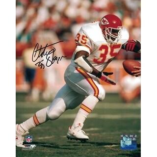 Christian Okoye Autographed Kansas City Chiefs 8x10 Photo White