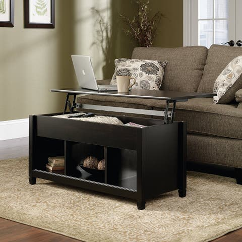 Wood Lift Top Coffee End Table with Storage