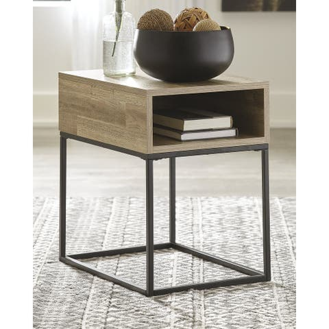 "Gerdanet Urban Natural Rectangular End Table - 16""W x 22""D x 22""H"