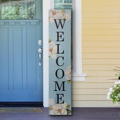 "Glitzhome 42""H Farmhouse Wooden Hello Spring Welcome Porch Sign"