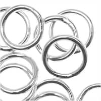 Silver Filled Closed Jump Rings 8mm 18 Gauge (10)