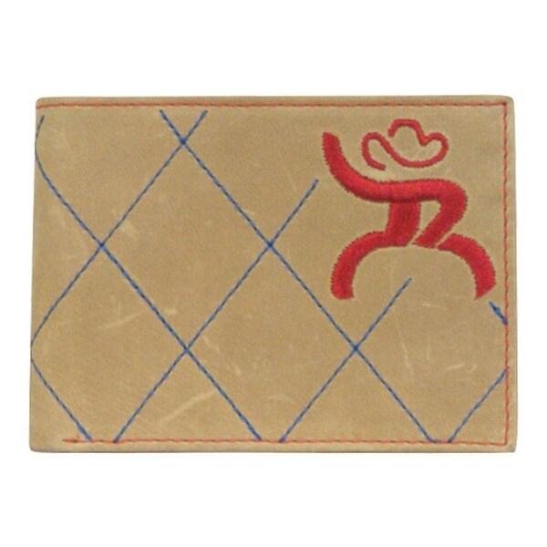 HOOey Western Wallet Mens Bifold Roughy Signature Brown - 4 x 3/4 x 3