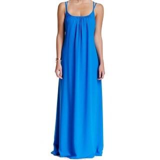Adelyn Rae NEW Black Women's Size Medium M Criss Cross Back Maxi Dress
