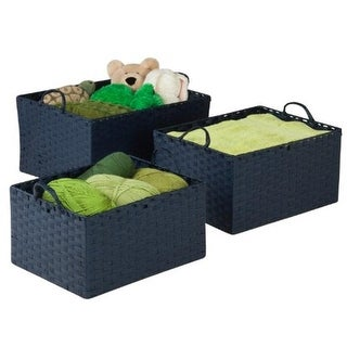 Honey-Can-Do STO-03739 Baskets Large Blue Stacking, blue