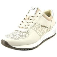 MICHAEL Michael Kors Womens Allie Leather Low Top Lace Up Fashion Sneakers