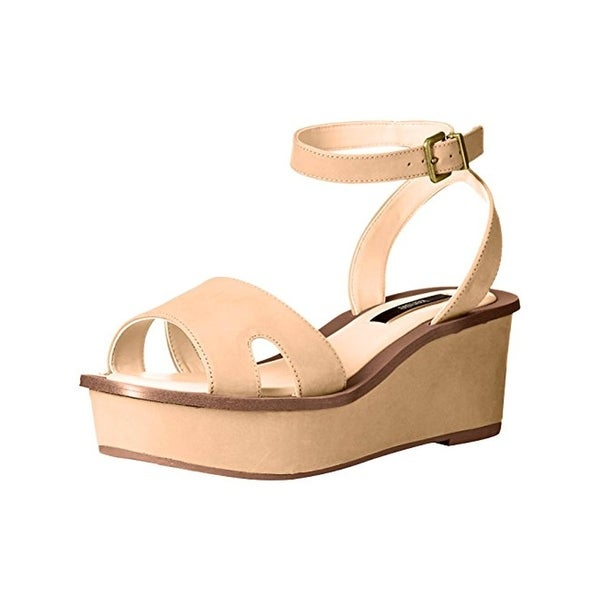Kensie Womens Tray Platform Sandals Open Toe Strappy