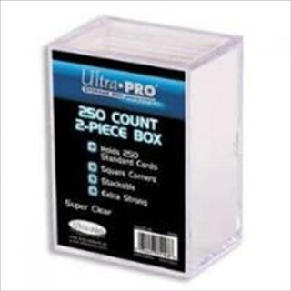 Ultra Pro 81148 2-Piece 250 Count Clear Card Storage Box