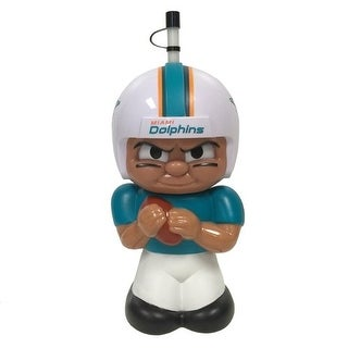 NFL Teenymates Big Sipper Drink Bottle 16oz Character Cup - Miami Dolphins - TEAL