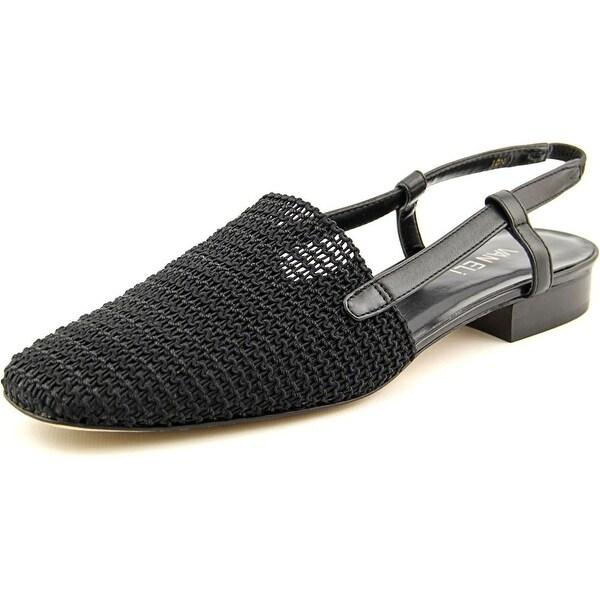 Vaneli Janet Women N/S Round Toe Synthetic Black Slingback Sandal