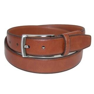 Geoffrey Beene Men's Leather Feather Edge Hidden Stretch Belt