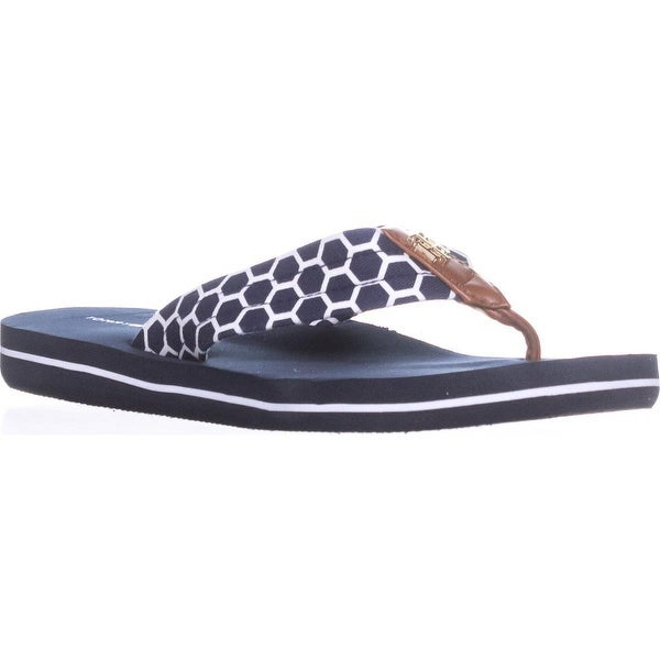 Tommy Hilfiger Cargo-X Open Toe Casual Flip Flops, Dark Blue