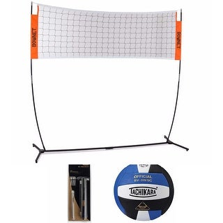 Bownet Volleyball Warm Up Net and Sensi-Tec Composite Ball Bundle