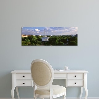 Easy Art Prints Panoramic Images's 'Aerial, White House, Washington DC, District Of Columbia, USA' Premium Canvas Art