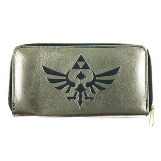 Nintendo The Legend of Zelda Logo Gold/Black Zip Around Wallet - One Size Fits most
