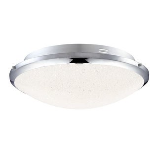 """Platinum PCGR1615 Glimmer Single Light 13"""" Wide Integrated LED Flush Mount Ceiling Fixture with Glass Shade and Crystal Sand"""
