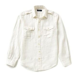 Polo Ralph Lauren NEW White Ivory Mens Size XL Two-Pocket Button Down