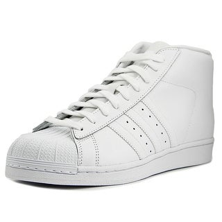 Adidas Pro Model Men Round Toe Synthetic White Sneakers