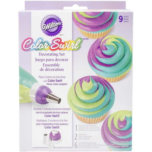 Color Swirl 3-Color Coupler Decorating Set