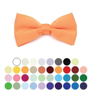 Boy's Pre-tied Clip On Bow Tie - Formal Tuxedo Solid Color - One size