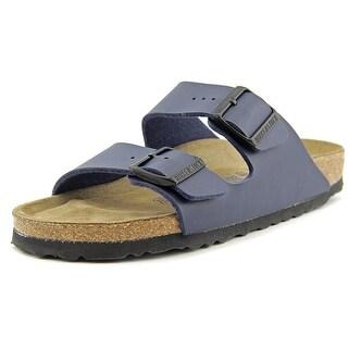 Birkenstock Arizona Women N/S Open Toe Leather Blue Slides Sandal