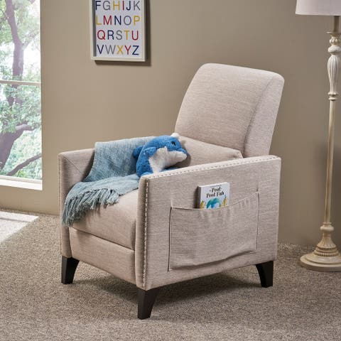 Alscot Contemporary Fabric Push Back Recliner by Christopher Knight Home