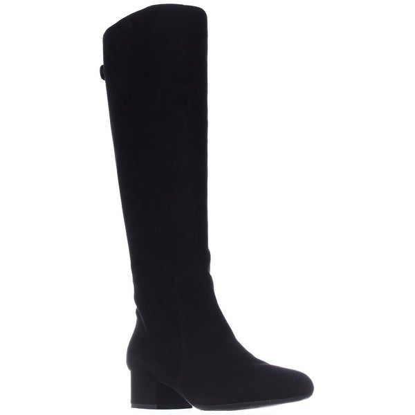 Anne Klein Camden Knee High Dress Boots, Black