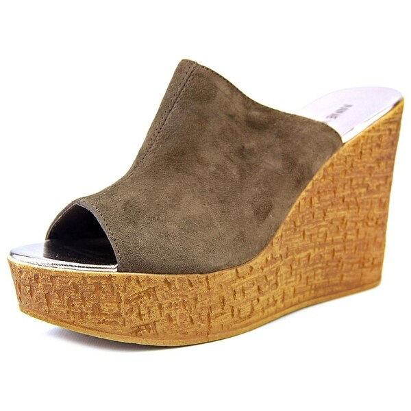 Nine West Lilahol1 Women Open Toe Synthetic Brown Wedge Sandal