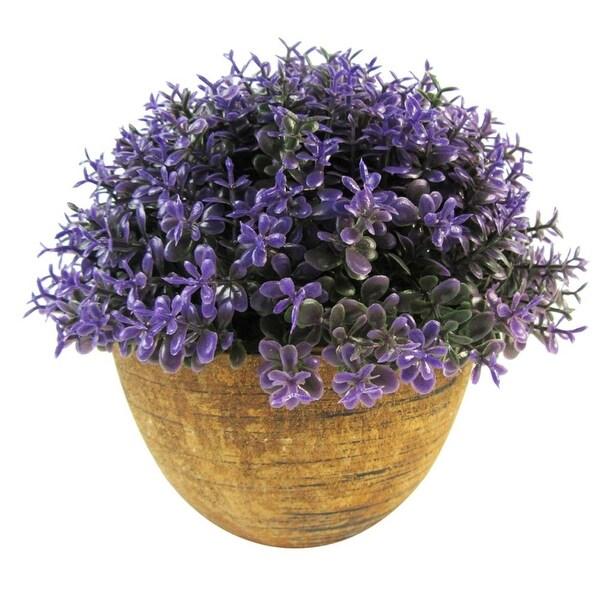 Mini Artificial Purple Topiary in Pot - 6 Units