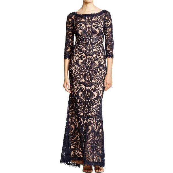 Tadashi Shoji Womens Formal Dress Full-Length Embroidered