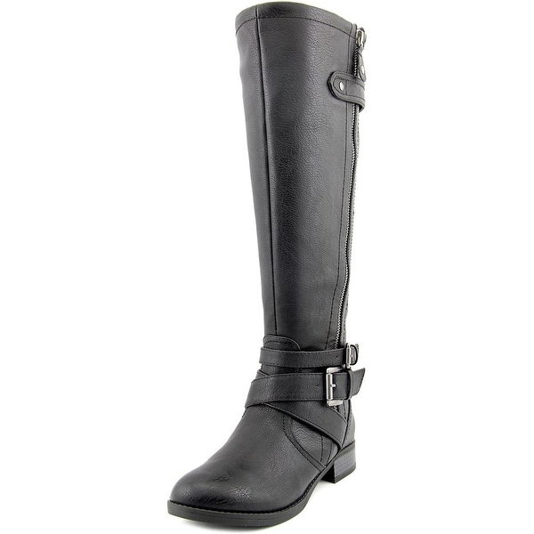 Indigo Rd. Cherish Women Round Toe Leather Black Knee High Boot