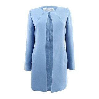Tahari ASL Women's Petite Flyaway Topper Jacket (4P, Antique Blue) - Antique Blue - 4P