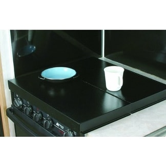 Camco 43554 Universal Fit Rv Stove Top Cover (Black) - Black