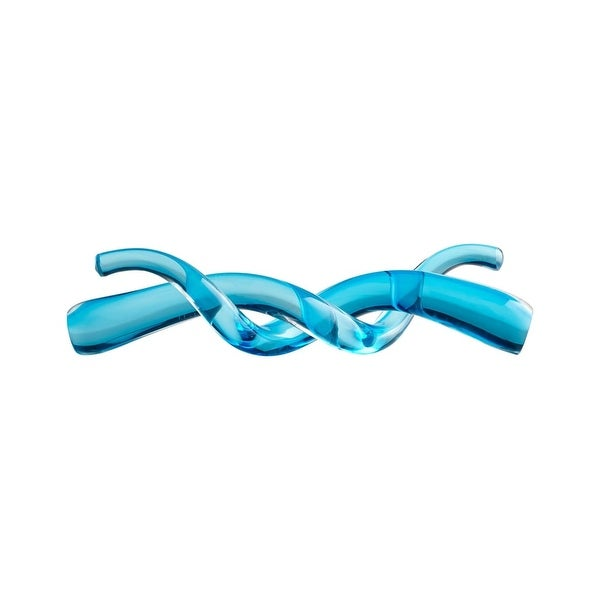 Cyan Design Double Helix II Double Helix 3.25 Inch Tall Glass Sculpture - Blue - N/A