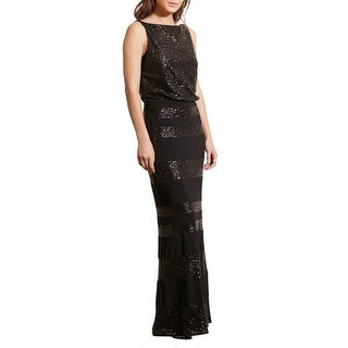 Lauren Ralph Lauren Sequin Stripe Blouson Evening Gown Dress - 4