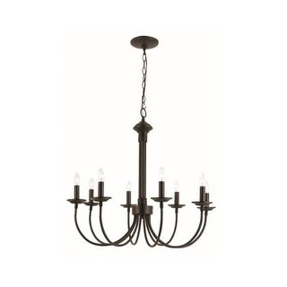 Trans Globe Lighting 9018 Traditional 8 Light Up Lighting Chandelier from the New Century Collection