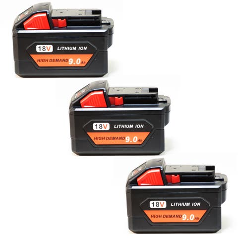 Replacement 9000mAh Battery for Milwaukee 2604-20 / 2717-22HD / 2760-20 Power Tools (3 Pk)