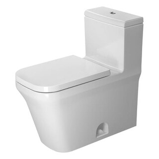 Duravit 2175010085 P3 Comforts 1.28 GPF One-Piece Elongated Toilet with Top Flush - White
