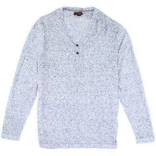 Tasso Elba NEW Blue Marl Mens Size 2XL Long-Sleeve Henley Sweater